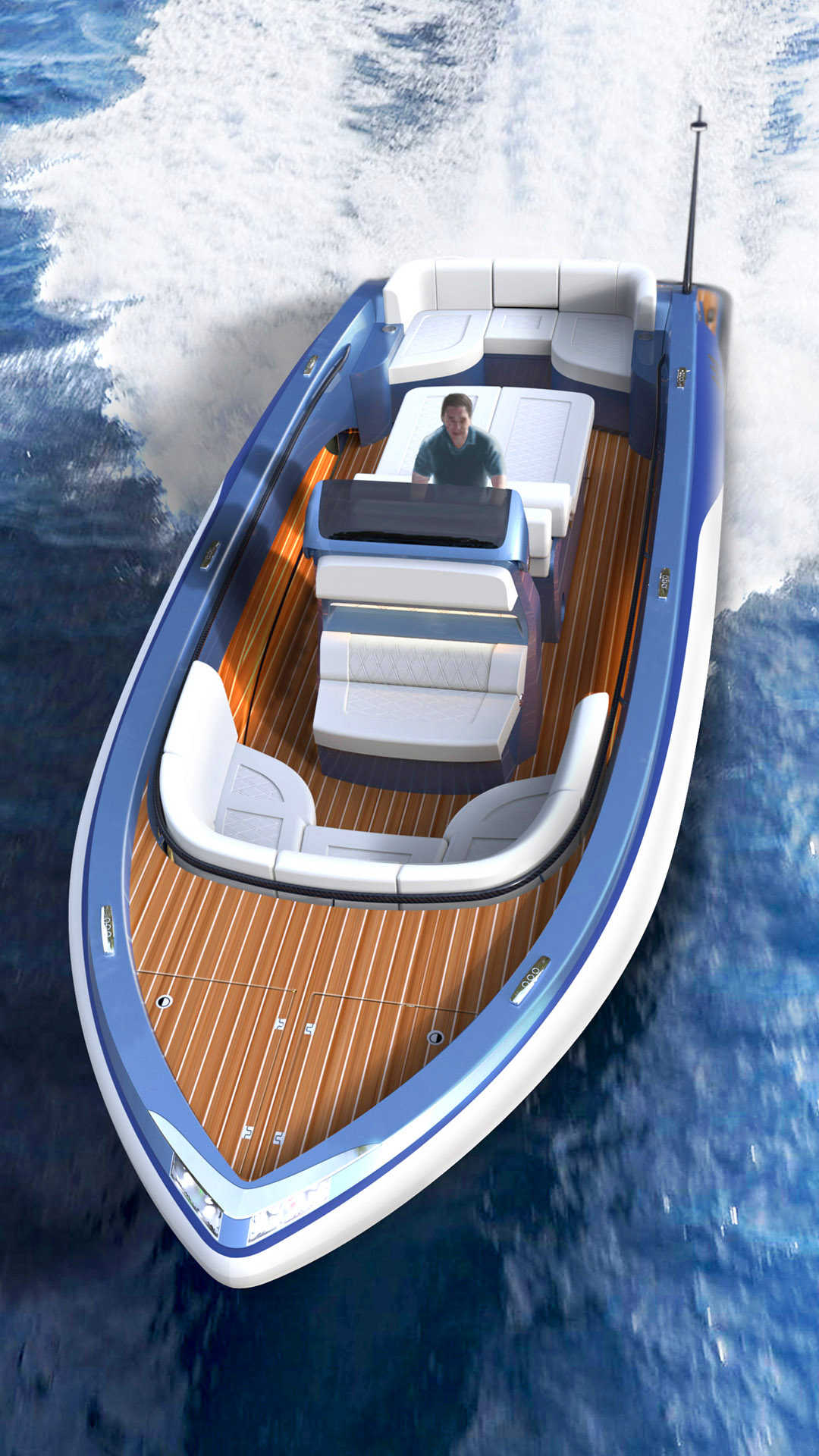 Luxury rib boat for superyachts design by H.Bekradi