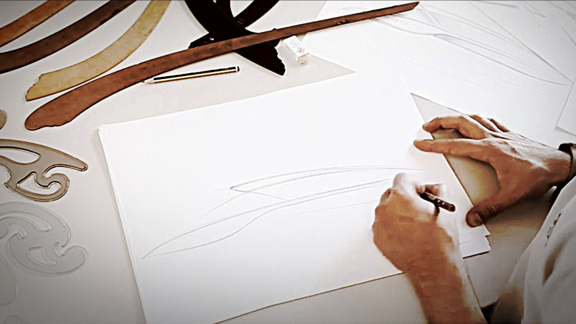 H.Bekradi sketching superyacht tenders freehand sketch yacht design