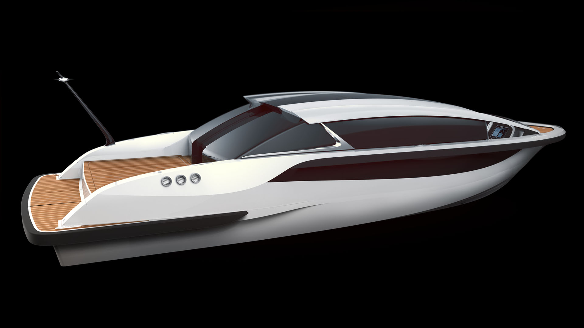 Tender yacht, limousine tender boat, luxurious tenders and toys for superyachts design by Hamid Bekradi