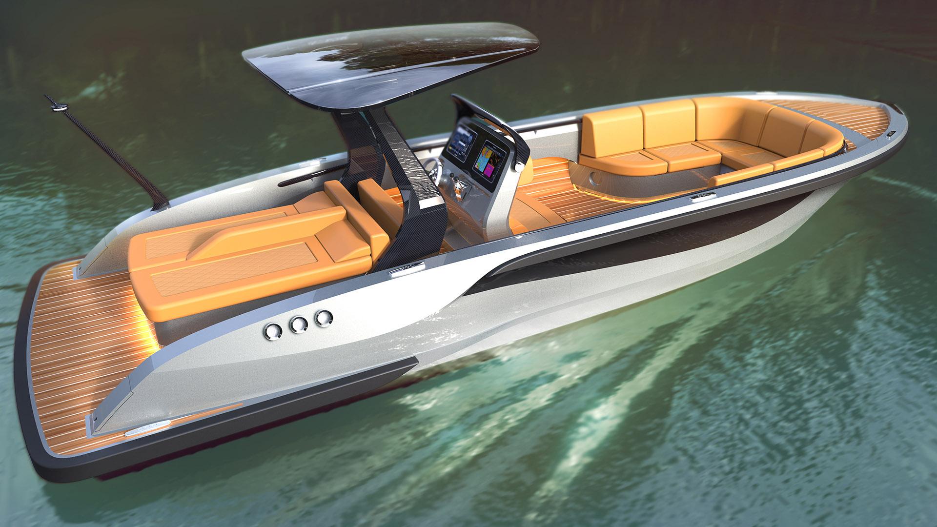 luxury tender yacht design by H.Bekradi