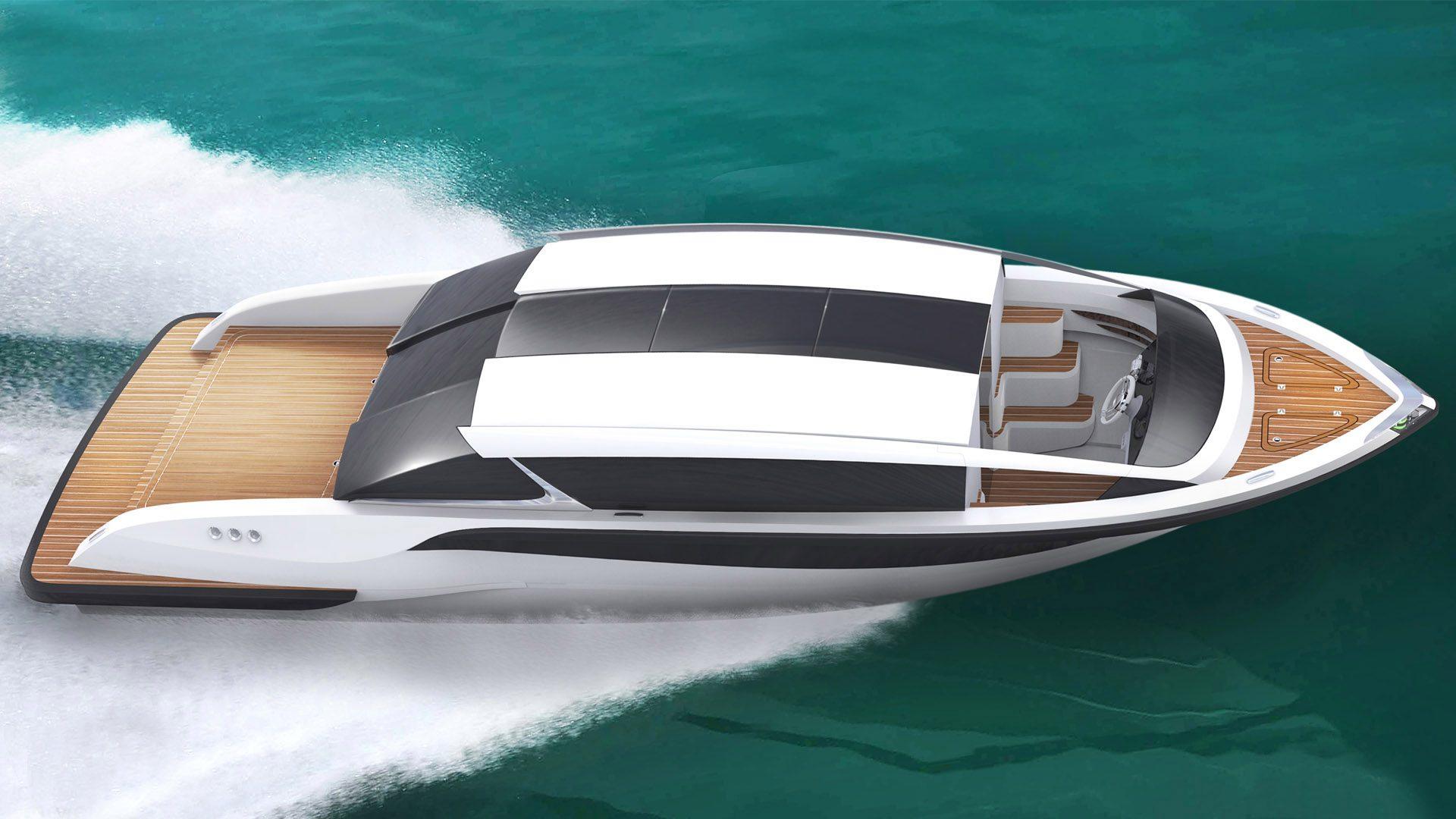 Superyacht tenders, limousine luxury tender boat, Silverline design by Hamid Bekradi fromHBD Studios