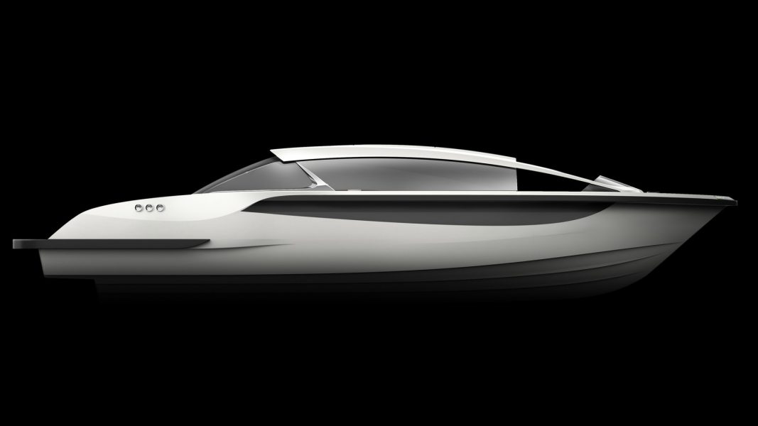 Rendering of a Luxurious Limousine tender yacht design by H.Bekradi
