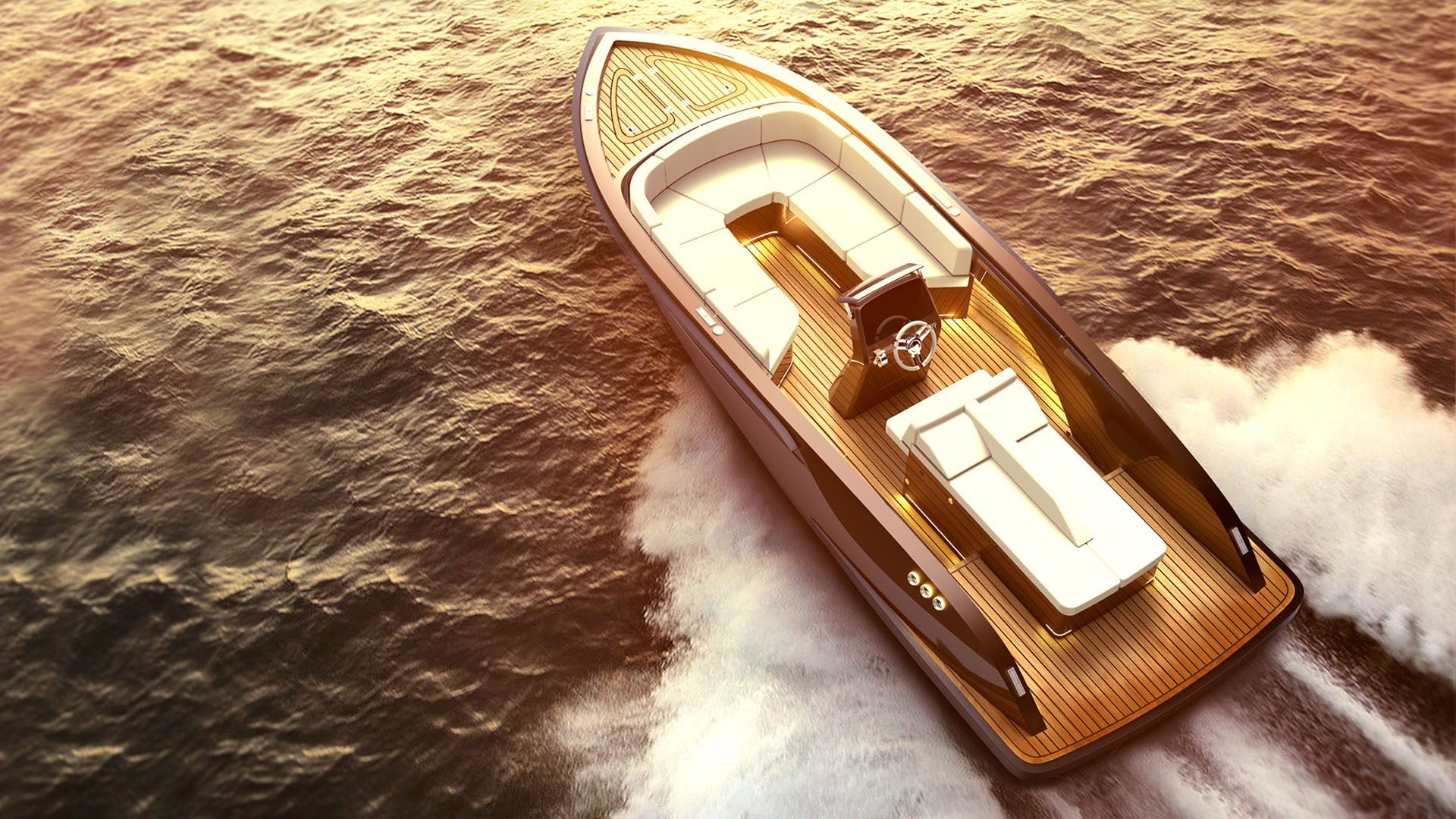 superyacht tenders, sports tender boats for water sports, wakeboarding design by Hamid Bekradi