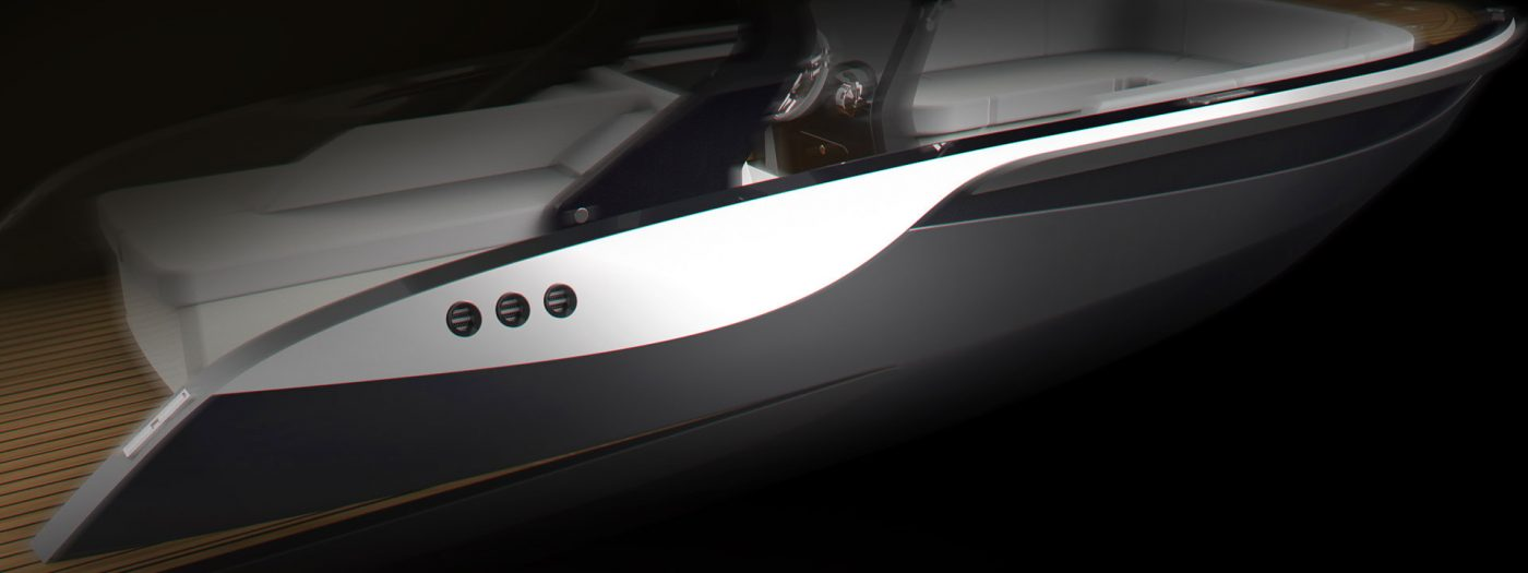 luxury tender yacht design by H.Bekradi