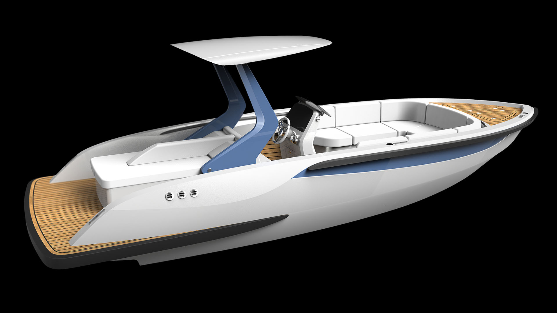 Superyacht tenders for superyachts and composite boats and luxury yachts design by Hamid Bekradi