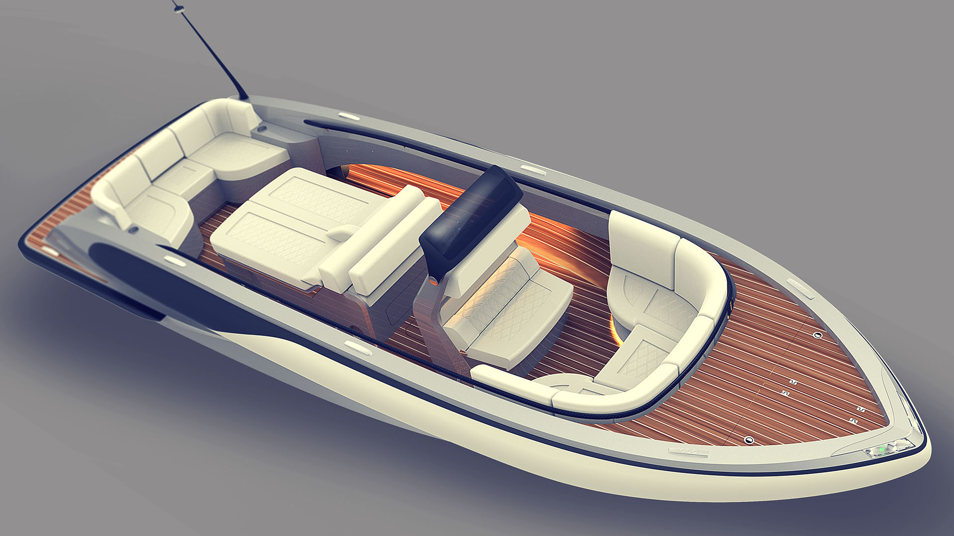 Rib boat tender yacht design by Hamid Bekradi