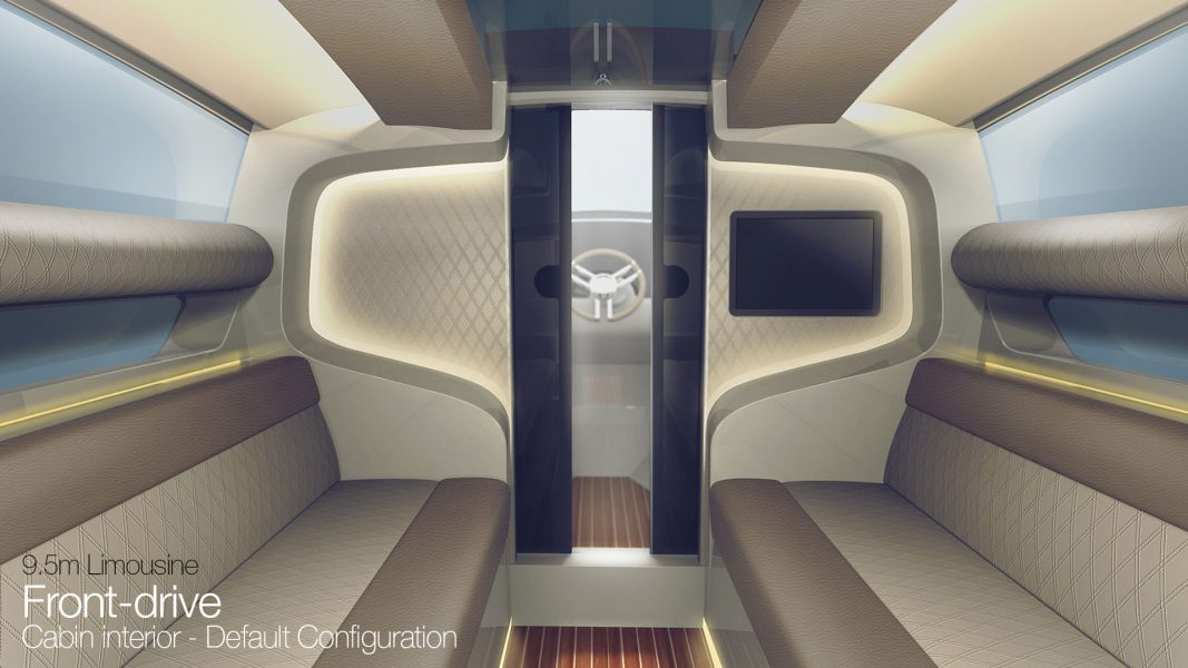 yacht interior design of the superyacht tender design by H.Bekradi