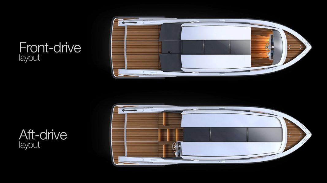 superyacht limousine tender design by yacht design H.Bekradi