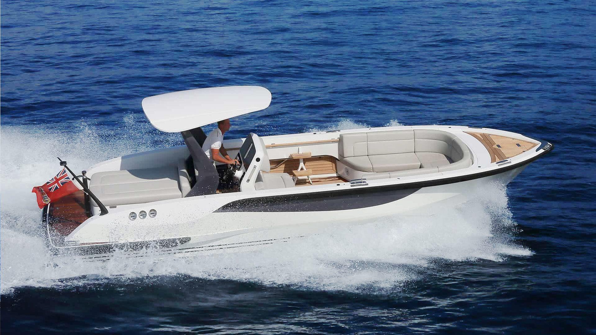 Superyacht Tender luxury open boat designed by Hamid Bekradi of HBD Studios