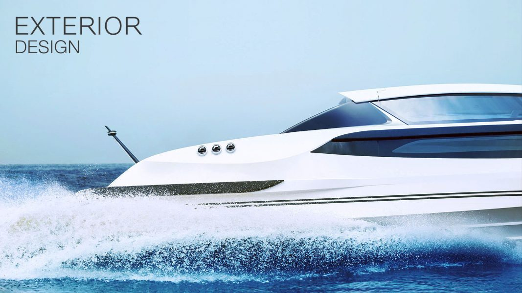 Superyacht tender boat design by Hamid Bekradi of HBD Studios