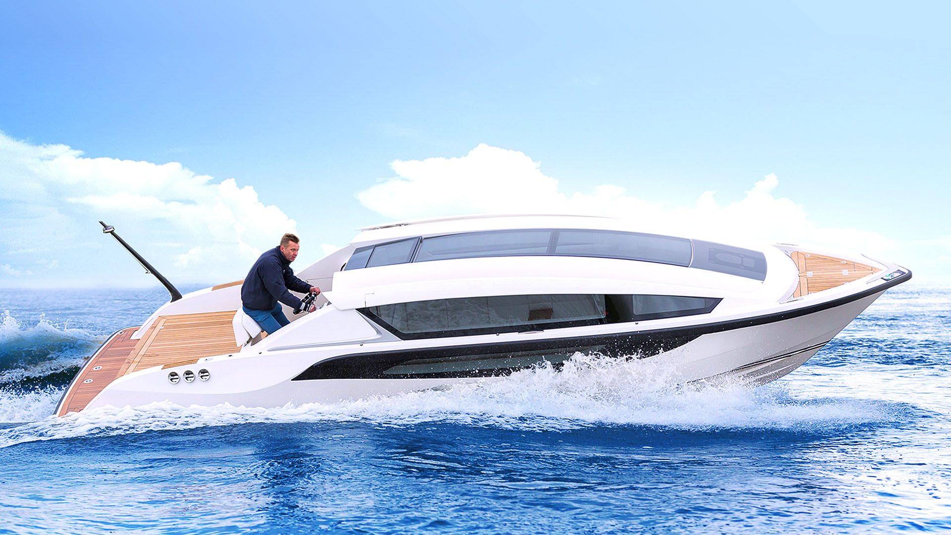 Superyacht tender boat design by Hamid Bekradi Silverline tender