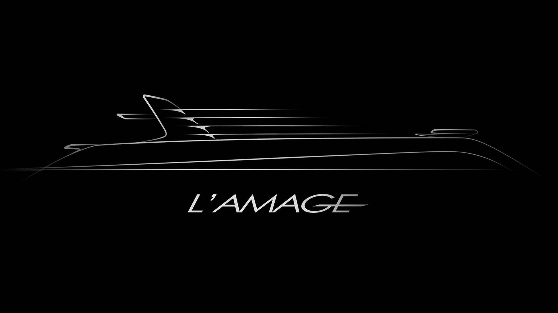 sketch of Superyacht L'Amage design by visionary designer h bekradi
