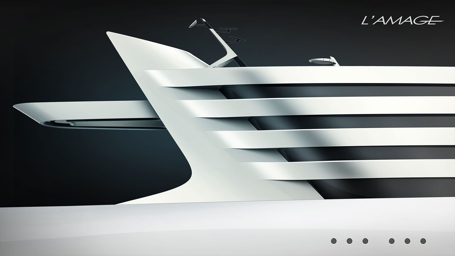 Superyacht L'Amage mehayacht design by visionary designer HBekradi