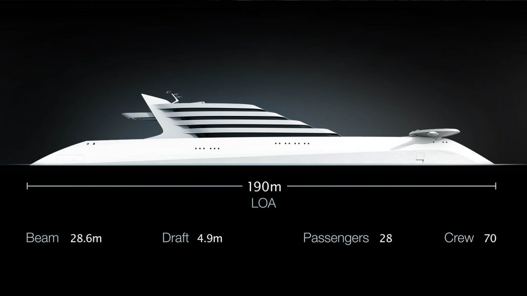Superyacht L'Amage yacht design by visionary designer hbekradi