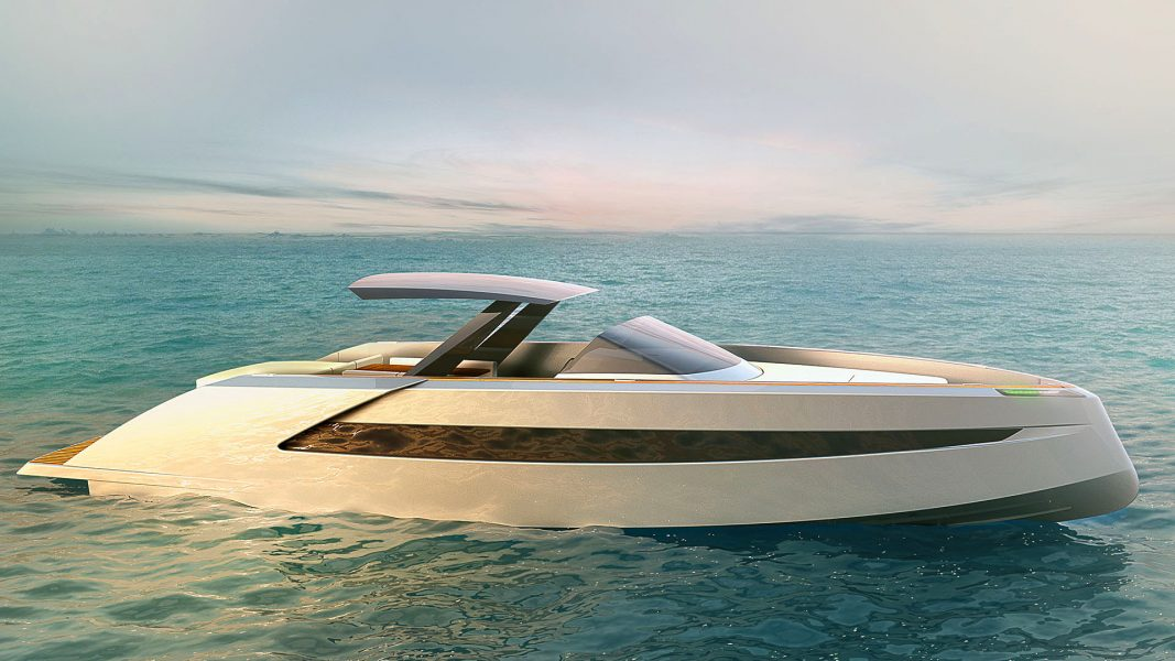Luxury Powerboat Phantom 54, a luxurious chase boat designed by Hamid Bekradi