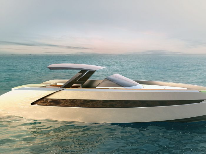 Luxurious yacht Phantom 54 powerboat yacht design by H.Bekradi