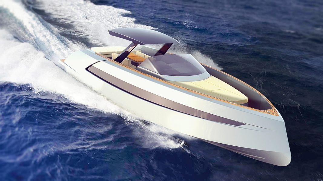 Chase boat Phantom 54, a luxurious powerboat for superyachts and a stylish weekender designed by Hamid Bekradi