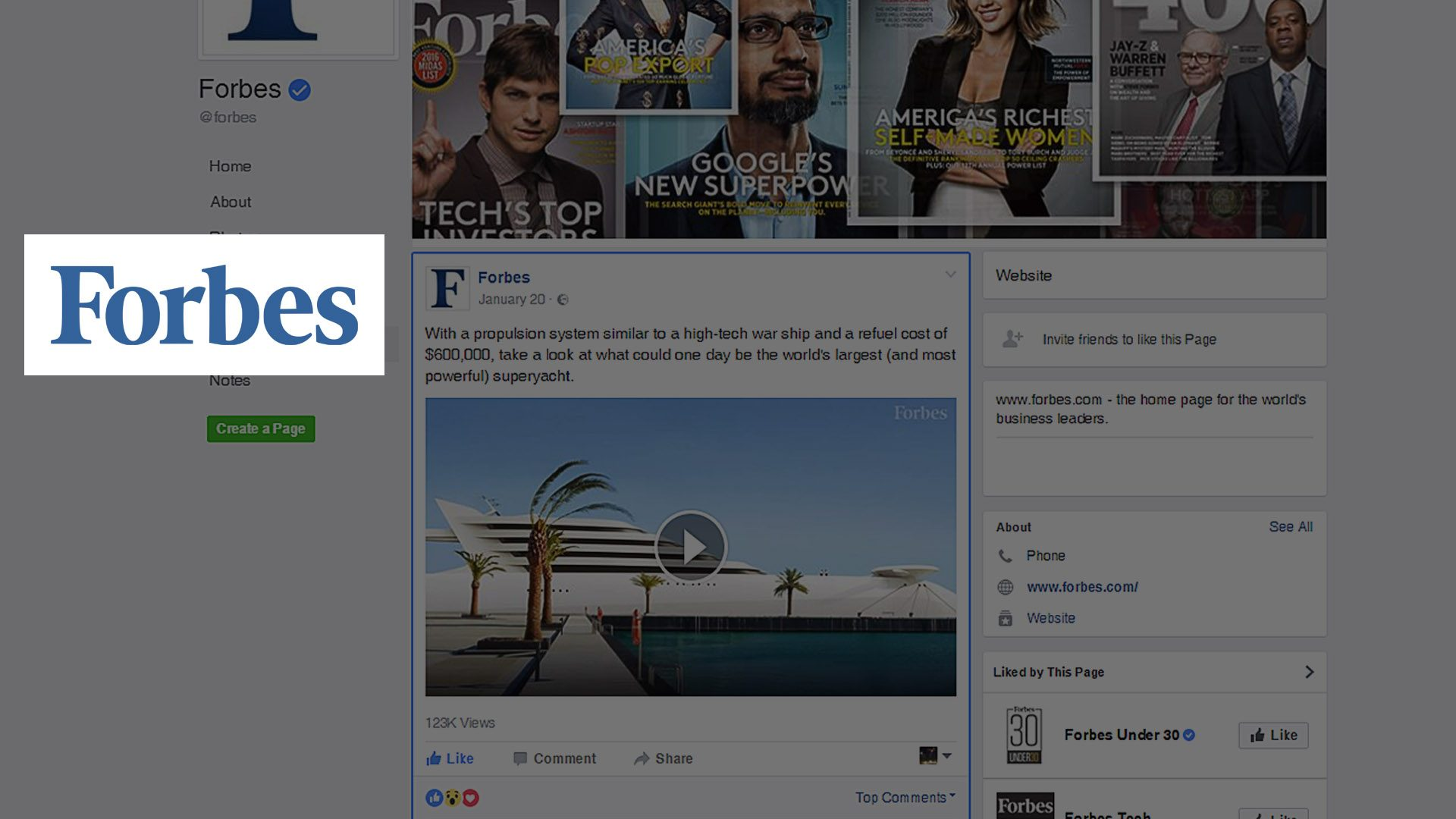 Forbes magazine video on Hamid Bekradi's design, the visionary superyacht L'Amage featured on Facebook