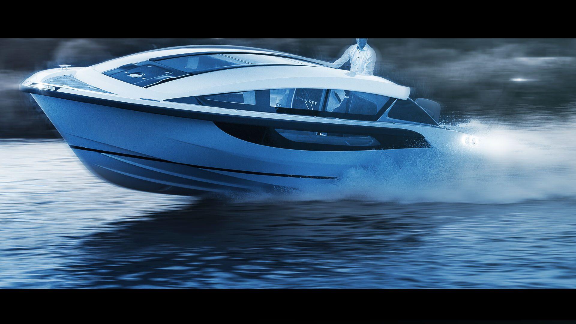 Limousine Tender Boat for Superyachts, designed by Hamid Bekradi