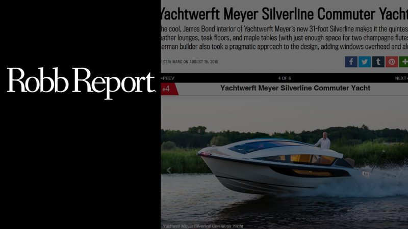 Robb Report article about Silverline superyacht tender as the James Bond boat