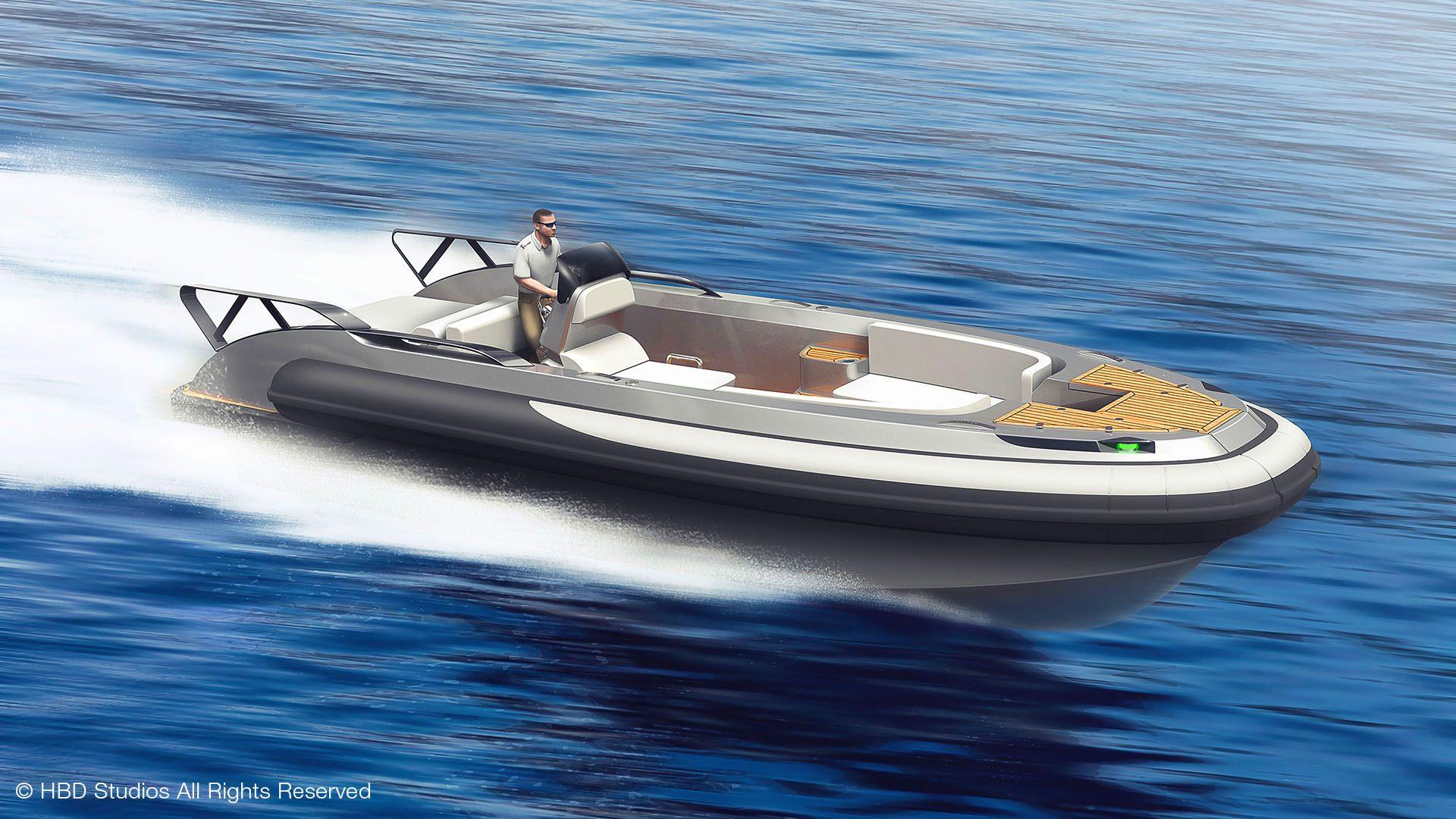 CC LINE superyacht tender boat RIB tender design by Hamid Bekradi, HBD Studios