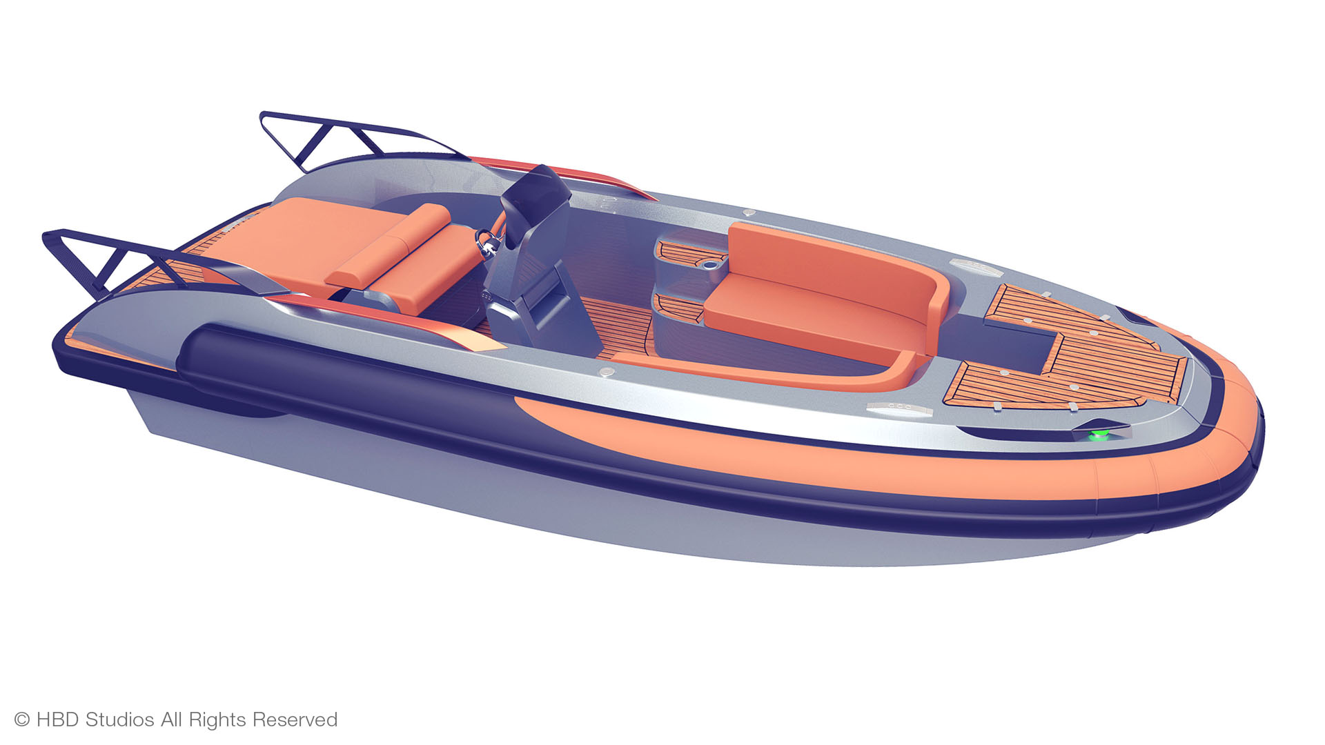 CC LINE superyacht tender, central console boat, RIB tender, yacht design by Hamid Bekradi, HBD Studios